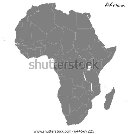 High quality map africa borders regions stock photo photo vector high quality map africa borders regions stock photo photo vector illustration 644569225 shutterstock gumiabroncs Image collections