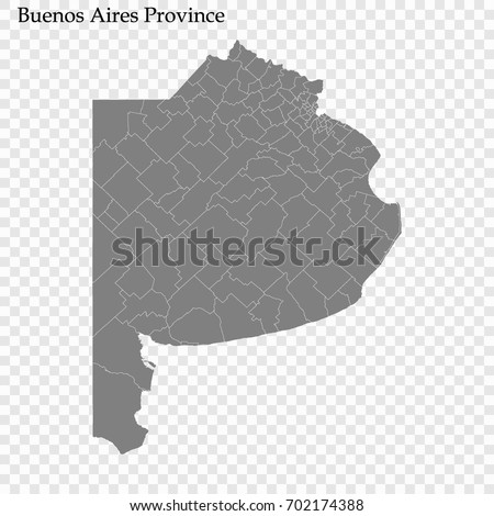 High Quality Map Buenos Aires Province Stock Vector 702174388