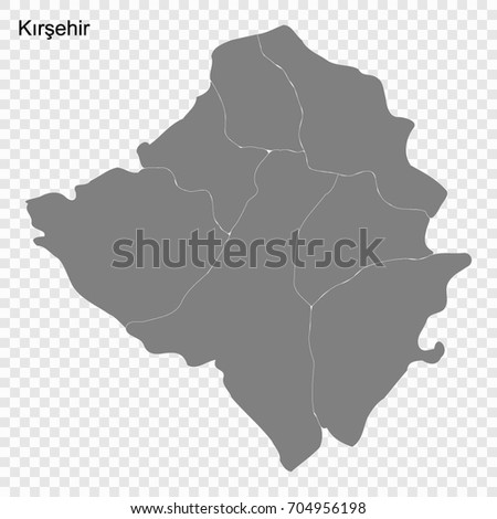 High Quality Map Kirklareli Province Turkey Stock Vector 704956198