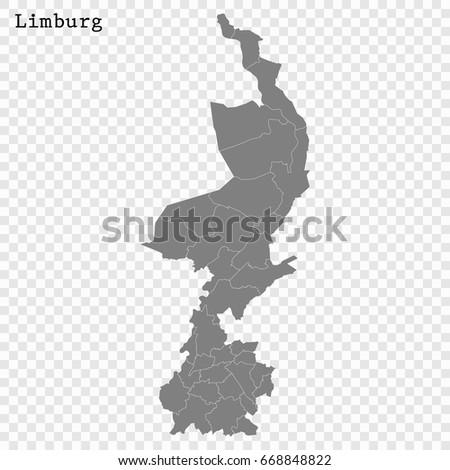 High Quality Map Limburg Province Netherlands Stock Vector 668848822