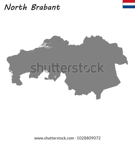 High Quality Map North Brabant Province Stock Vector 1028809072