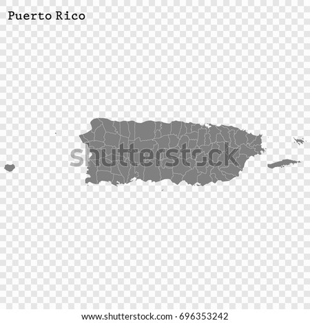 High Quality Map Puerto Rico Unincorporated Stock Vector - Us map puerto rico