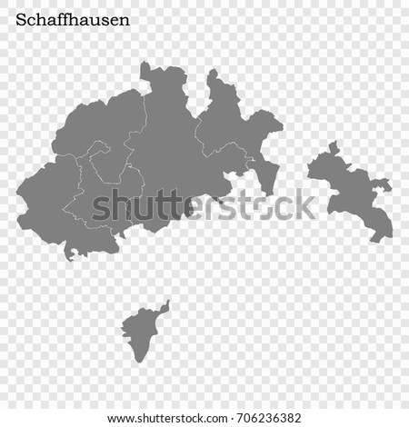 Schaffhausen Map Vector Stock Images RoyaltyFree Images Vectors