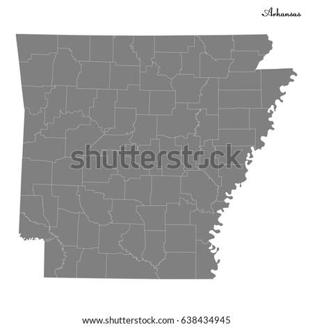 High Quality Map Us State Arkansas Stock Vector - Vector map of us