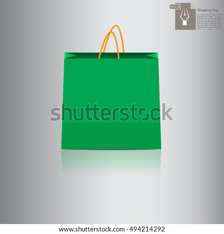 High quality original vector trendy illustration of a shopping bag for sale, banners, ads or web design