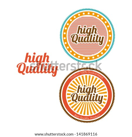 high quality seals over white background vector illustration