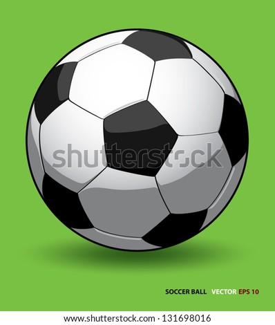 high quality soccer ball vector on green background .Element for design, vector illustration - stock vector