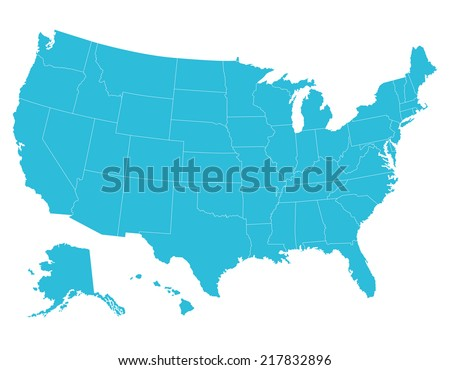Us Map Stock Images RoyaltyFree Images Vectors Shutterstock - Colored us map
