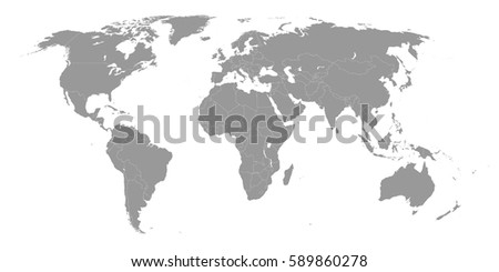 High quality world map borders countries vectores en stock 589860278 high quality world map with borders of the countries gumiabroncs Gallery