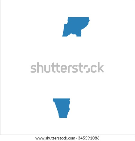 High resolution Israel map with country flag. Flag of the Israel  overlaid on detailed outline map isolated on white background - stock vector
