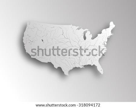 Usa Alaska Hawaii Map Separate Individual Stock Vector - Us alaska hawaii vector map
