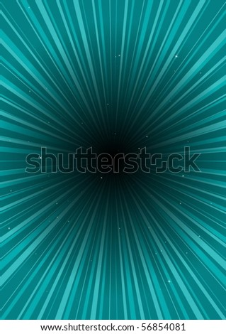 High speed space travel vector abstraction - stock vector