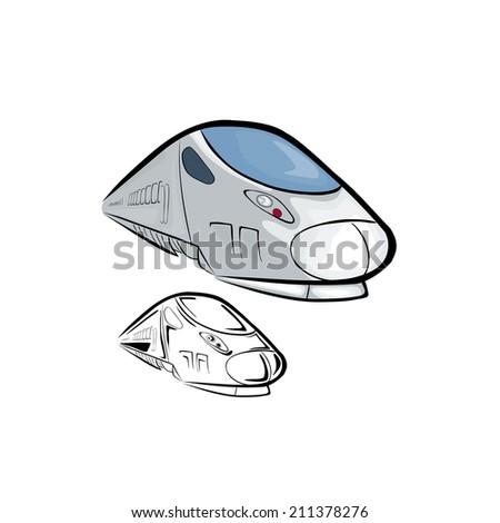 High Speed Train 2 - stock vector