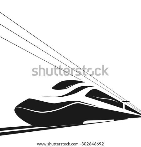 high-speed train - stock vector