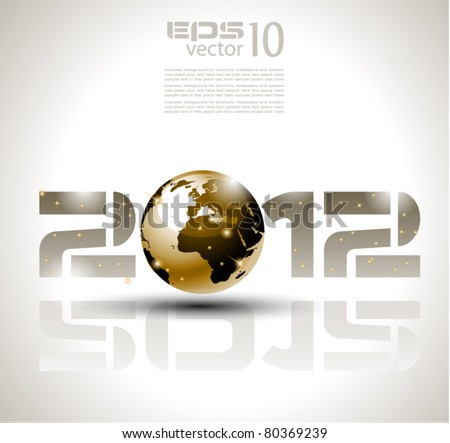 High tech and technology style 2012 happy new year celebration background for your posters, flyers and business presentations. - stock vector