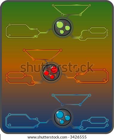 high-tech design elements - stock vector