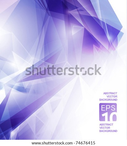 high tech vector abstract violet background - stock vector