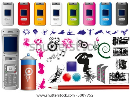 High value vector pack, over 40 high quality vectors - stock vector