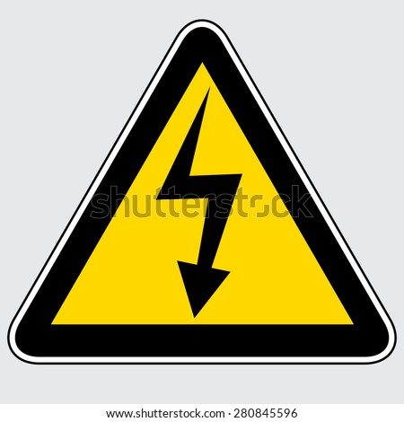 High Voltage Sign - stock vector