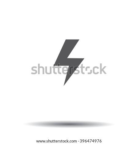 high voltage sign icon volt - stock vector