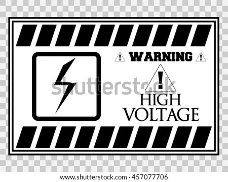 high voltage sign or electrical safety sign - stock vector