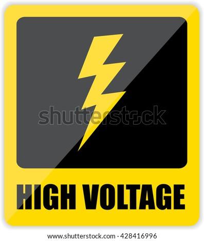 High voltage Sign. Vector - stock vector