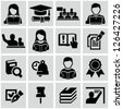 Higher education icons - stock vector