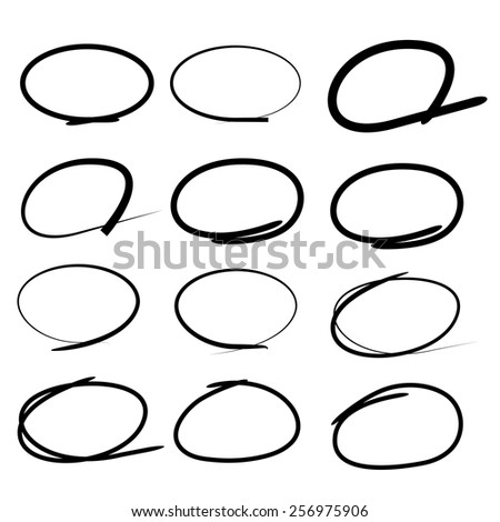 highlight circle - stock vector