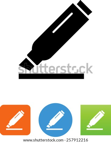 Highlighting pen symbol for download. Vector icons for video, mobile apps, Web sites and print projects.  - stock vector