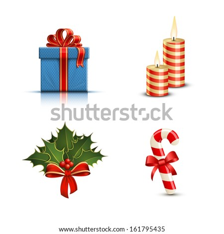 Highly detailed Christmas icons. Vector illustration