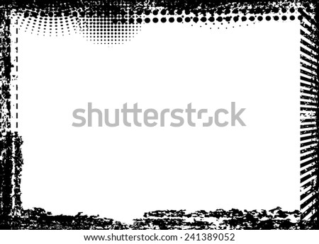 Highly Detailed Grunge Border Frame with space for your Text . Vector Illustration . - stock vector