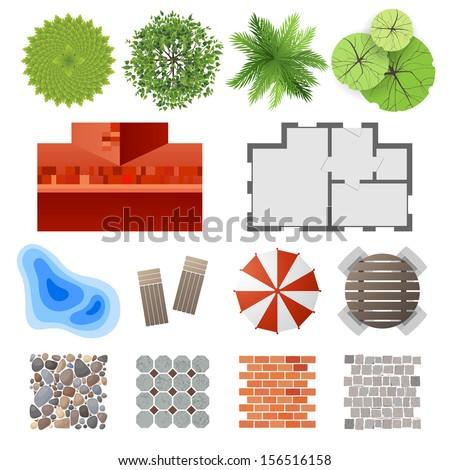 Highly detailed landscape design elements easy stock for Element landscape design