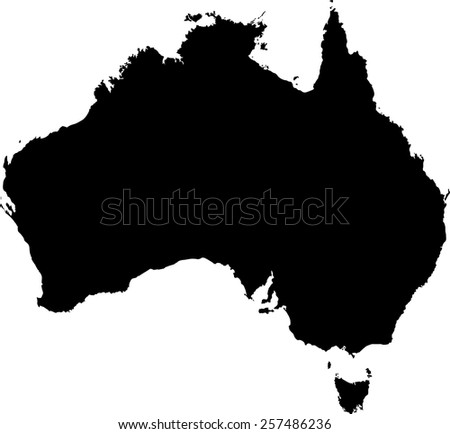 Highly detailed map of Australia - stock vector