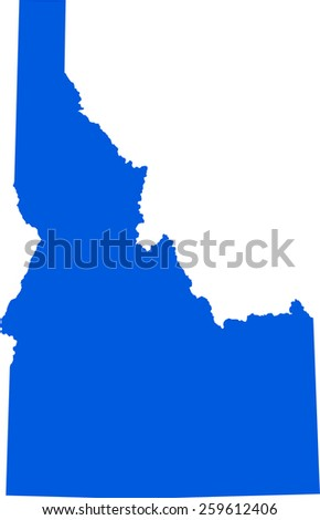 Highly detailed map of Idaho - stock vector