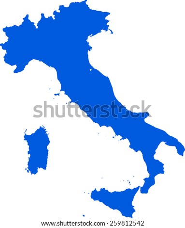 Highly detailed map of Italy - stock vector