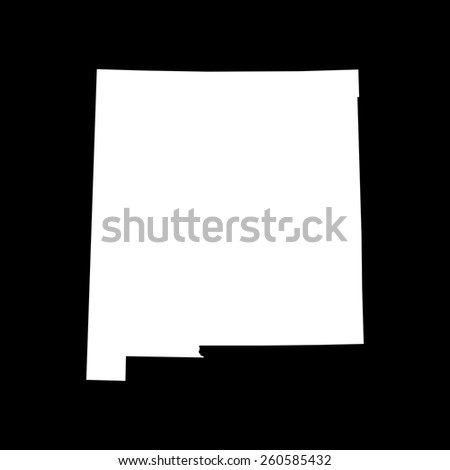 Highly detailed map of New  Mexico - stock vector