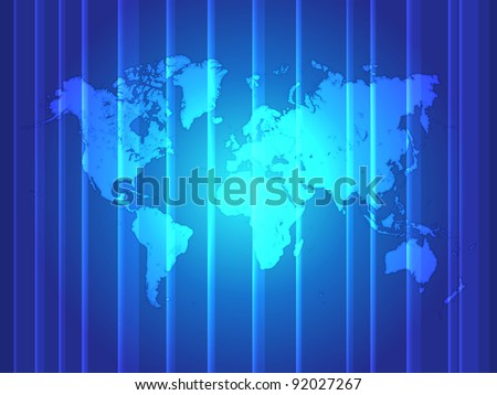 Highly detailed World map - Vector Illustration - stock vector