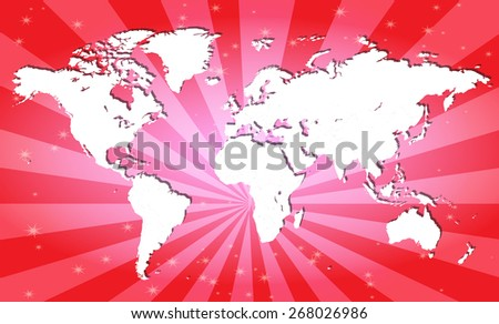 Highly detailed world map with attractive background - Separable countries by borders.  Vector Illustration  - stock vector
