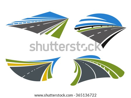 Road Symbols Pictograms Transportation Design Such Stock