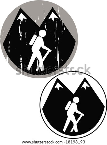 Hike - stock vector