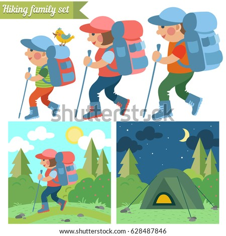 Illustration Kids On Camping Trip Stock Vector 95801203
