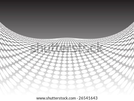 Hills made of dots - stock vector