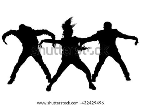 Hip hop dancer stock images royalty free images vectors hip hop dancer on white background voltagebd Choice Image