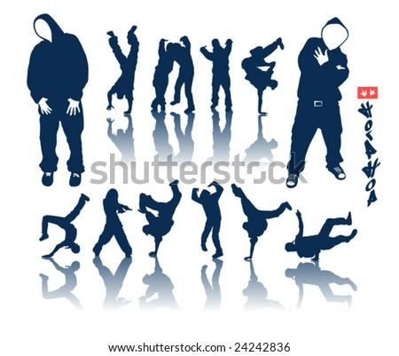 Hip hop dancer vector graffiti - stock vector