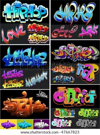 Hip hop graffiti crime art - stock vector