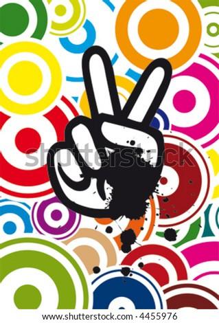 Hippie Hand, vector - stock vector