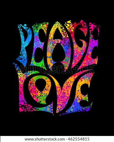 60s Hippie Concert Symbols - Peace, Love, & Happiness ...