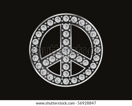 hippy sign with diamonds - stock vector
