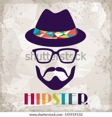 Hipster background in retro style. - stock vector