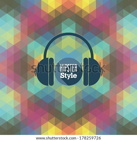 Hipster background. Vector illustration. - stock vector